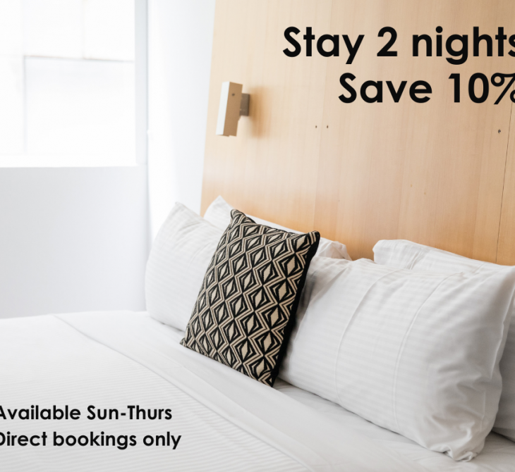 Stay 2, Save 10%
