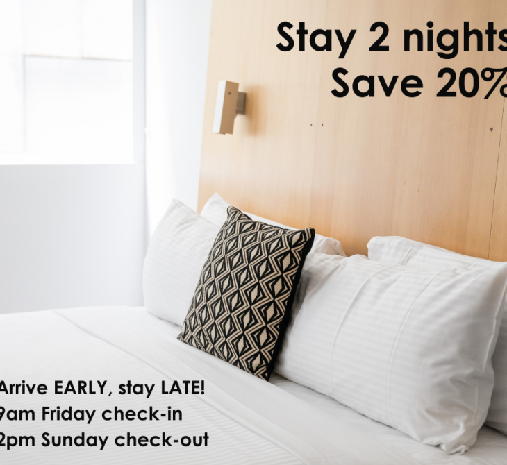 Stay 2, Save 20%